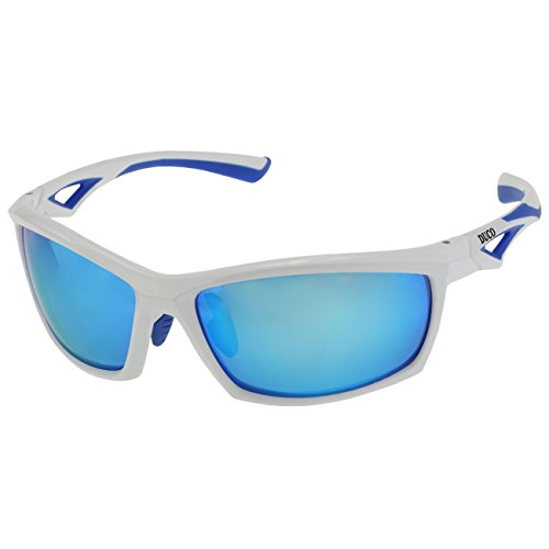 Duco Polarized Sunglasses for all Outdoor sports and 100% TR 90 Flexible Frame 6211 White