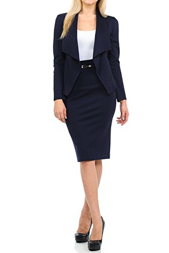 Jacket Skirt Pant Suit - 6