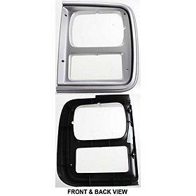 - QP C0782-a Chevy Van Silver Driver Headlight Door Grille