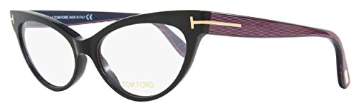 Tom Ford FT5317 005 Eyeglasses Frame, Black/Magenta, 54 by Tom Ford