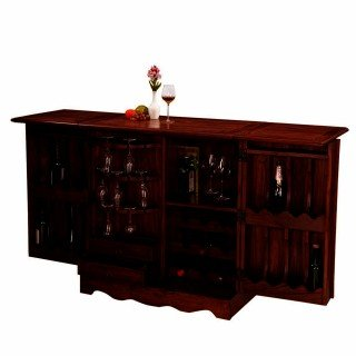 Inhouz INHZ0859(M) Bar Cabinet (Brown)