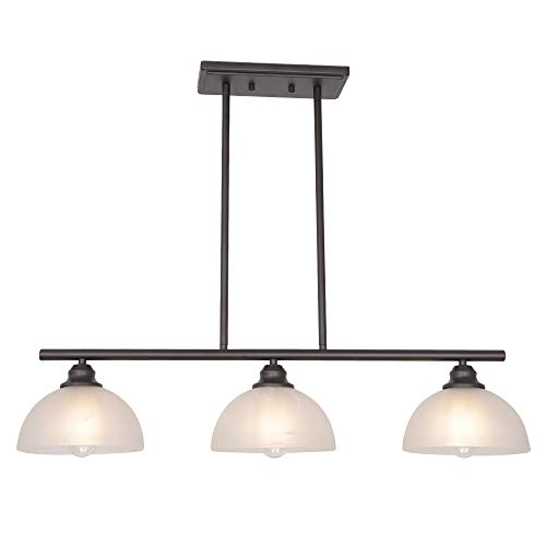 TULUCE 3-Light ORB Modern Chandelier Glass Pendant
