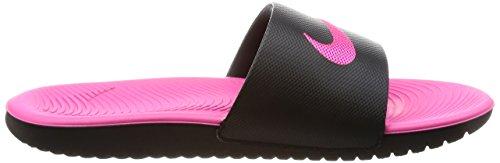 Nike Kawa Slide (GS/PS), Zapatos de Playa y Piscina Para Mujer, Multicolor (Black/Vivid Pink 001), 38.5 EU