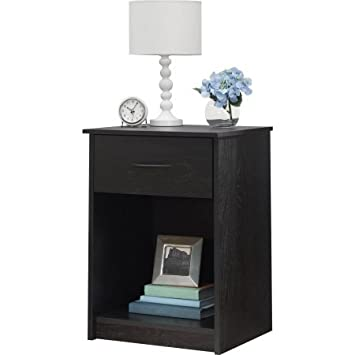 Amazon.com: Nightstand MDF End Tables Pair Bedroom Table Furniture ...