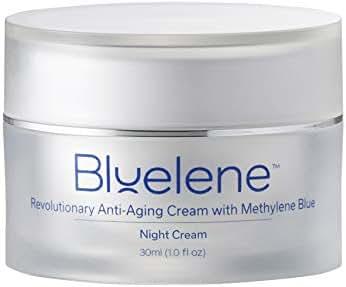 Anti Aging Night Cream, Bluelene. Revolutionary Anti Wrinkle Night Cream with Methylene Blue. Perfect Retinol Alternative for Sensitive Skin (30 ml)