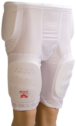 - Athletic Specialties Youth 5 Pocket Football Girdle With Sewn-In Hip, Tail And Thigh Pads, X-Large