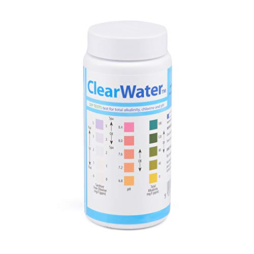 Clearwater ch0012 25 dip test strips for swimming pool and spa treatment buy online in uae for How to read swimming pool test strips