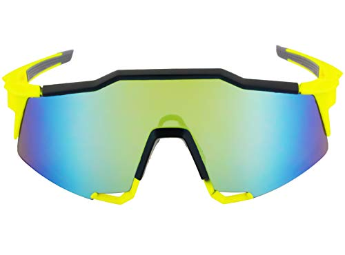 Huge Shield Visor Oversize Sports Sunglasses for Men Women for Cycling Baseball Running ()