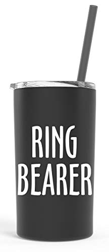 Flower Girl or Ring Bearer Tumbler Gift (Black (Ring Bearer)) -