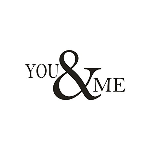 Yeefant PVC Wall Stickers, You&Me Removable Art Vinyl Mural Home Room Decor For Bedroom Living Room TV Background,24