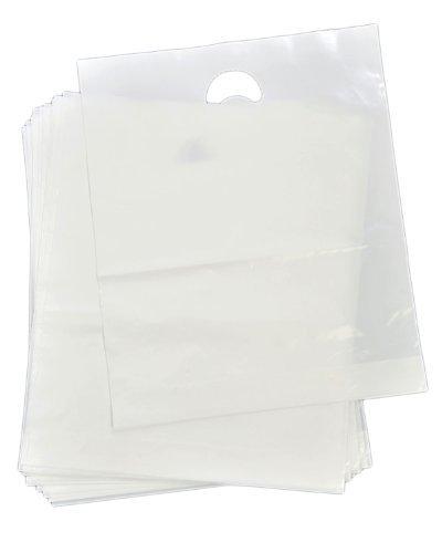 300 Clear Heavy Duty Patch Handle Plastic Carrier Bags 15 x 18 x 3 by Bag It Plastics