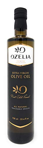 OZELIA | GOLD Medal | Award Winning Extra Virgin Olive Oil | 750ml / 25.4 fl.oz | Single Estate & Single Variety | Certified PDO | Cold Pressed