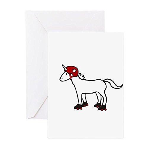 (CafePress - Roller Derby Unicorn Greeting Cards - Greeting Card, Note Card, Birthday Card, Blank Inside Glossy)