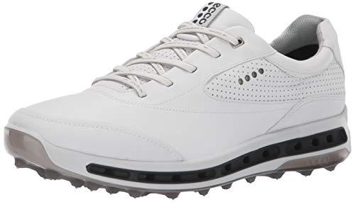 ECCO Men's Cool Pro Gore-TEX Golf Shoe, White/Black/Transparent, 8 M US (Ecco Golf Shoes)