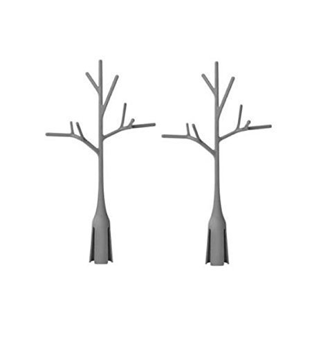 Boon Twig Grass and Lawn Drying Rack Accessory, Warm Grey, 2 Pack,