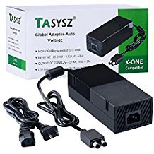 AC Adapter Power Supply for Xbox One, Replacement Charger for Xbox One [Quieter Version], Auto Voltage 100-240V