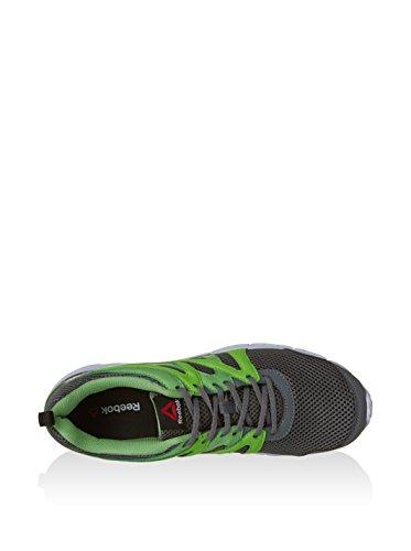 Reebok Run Supreme 2.0 - Zapatillas de running unisex Gris / Verde / Blanco / Negro (Alloy/Solar Green/Bright Green/Wht/Blk)