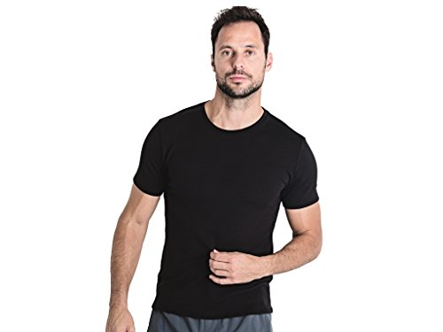 OLIVERS Apparel, Mens Athletic Merino Wool Tech Mesh Terminal Tee (Dark Navy, Large)