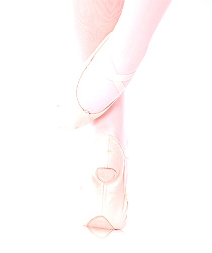 Body Wrappers 247A Adults' Maria Low Vamp Canvas Ballet Slipper (Peach, 4.5 N US) by Body Wrappers