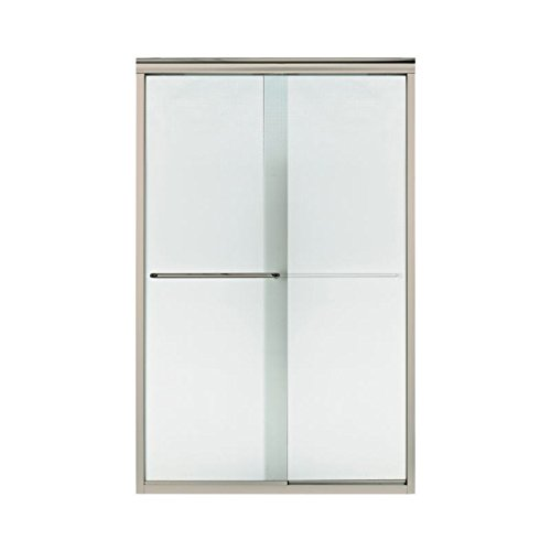 Sterling Plumbing 5375EZ-45N-G69 Finesse 44 To 45.5-In X 70.3-In Frameless Alcove Shower Door With Lake Mist Glass, 0.25