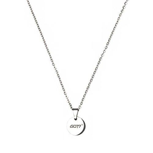 Fanstown Kpop Team Logo 0.4 inch Diameter Round Shape Water Prove Necklace Fashion and Cool (GOT7 C)