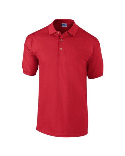 Gildan Ultra Cotton TM gekämmte ringgesponnene Piqué-Polo Erwachsenen XXL,Rot