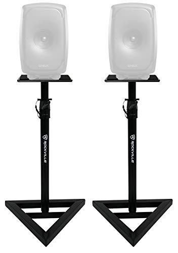 Rockville Adjustable Studio Monitor Speaker Stands For Gene