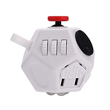 b00a14d6cdb1c WCZC Fidget Toys,Fidget Cube Toy,12 Sided Fidget Cube,Relieves Stress and  Anxiety Anti Depression Cube for Children and Adults with ADHD ADD OCD ...