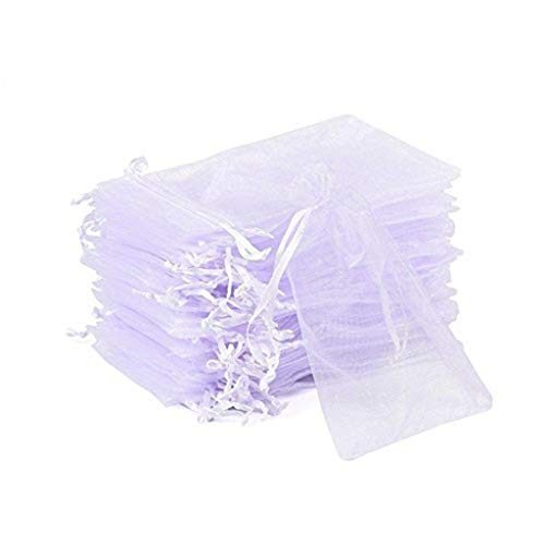 Maikouhai 100 Pcs Organza Gift Bags for Wedding Party Love and Jewelry Packaging for Makeups, Cosmetics, Small Gifts, Tiny Toys, Small Accessories - 4x6 Inch