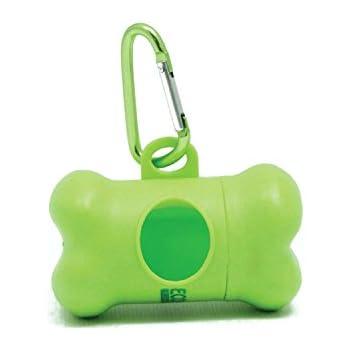 ecojeannie dog poop bag dispenser with stainless steel carabiner clip pb0007 dog waste poopbags holder - Dog Waste Bags