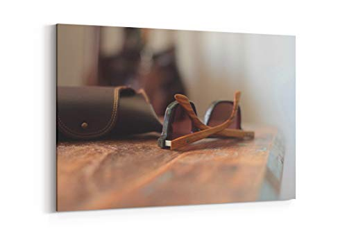 Workspace Wood Timber and Beach in Noosa Heads Australia - Canvas Wall Art Gallery Wrapped 26