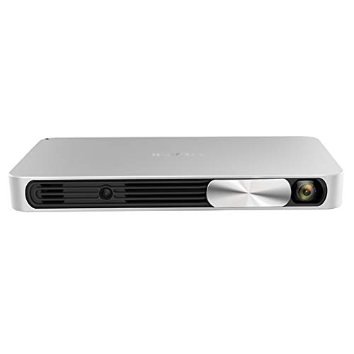 Projector Home 3D no Screen TV Office Projector Business Office Meeting Education Training Projector Commercial Projector 1080P (Color : Silver, Size : 21.4×11.35×2.35cm)