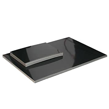 Encaustic Malkarten, schwarz hochglanz DIN-A 5, 25 stk,: Amazon.de ...