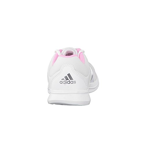 adidas Damen Essential Fun 2 Laufschuhe Blanco / Plateado / Rosa (Ftwbla / Plamat / Nocmét)