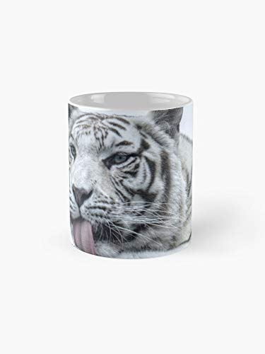 White Tiger Colour Version 11oz Mug - Made from Ceramic - Best gift for family friends