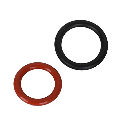 Engine Rubber Bumpers Compatible with Honda Power Steering Pump O-Ring SET 91345-RDA-A01 + 91370-SV4-000 (Red)