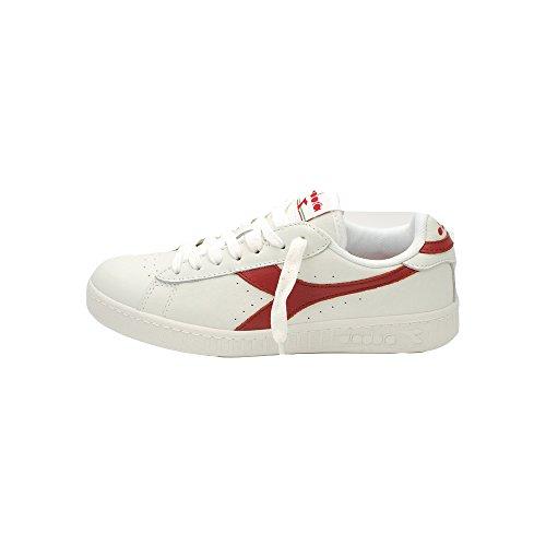 Diadora Herren Game L Low Sneaker C6313 BIANCO-ROSSO PEPERONCINO