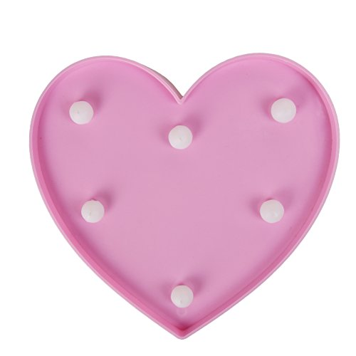 Light up Pink Heart Sign Marquee night light kids light wedding light LED Plastic light up heart shape love sign battery operated 10