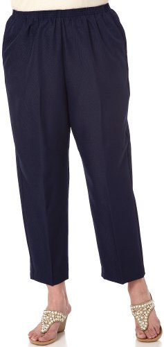 (Alfred Dunner Classic Pull-On Pant Navy 22W)