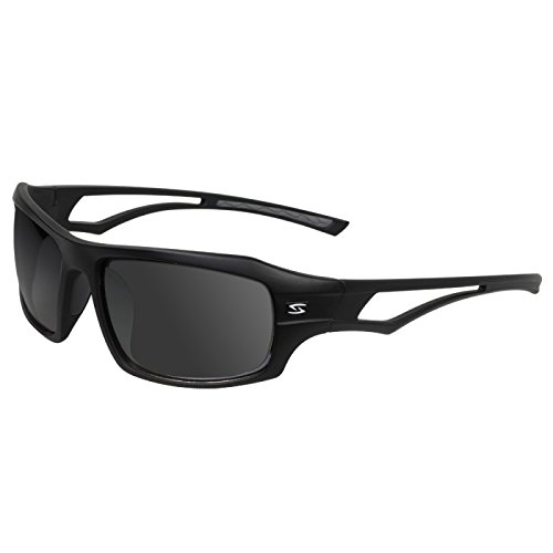 Serfas Scandal Sunglasses, Gloss Black Frame/Grey - Sunglasses 6001