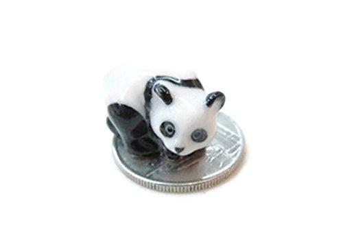 (ChangThai Design Dollhouse Miniatures Ceramic Panda ss Figurine Animals Decor)