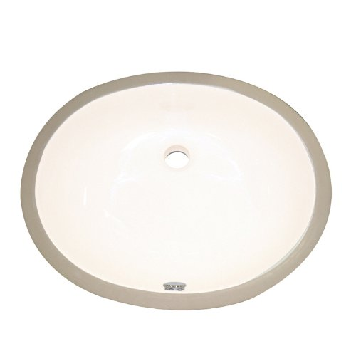 DECOLAV 1401-CBN Carlyn Classically Redefined Oval Vitreous China Undermount Lavatory Sink with Overflow, Biscuit