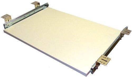 EisenRon Tastaturauszug in weiss und 4 Größen bis 30kg Schreibtischauszug neu 60x30cm - Standart Höhe