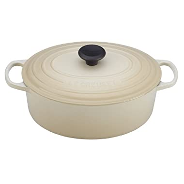 Le Creuset Signature Enameled Cast-Iron 6.75 Quart Oval French (Dutch) Oven, Dune