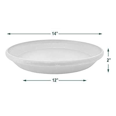 PSW AP35DC Single Saucer, 14-Inch, Dark Charcoal : Plant Saucers : Garden & Outdoor