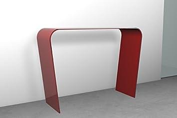 Glas Konsolentisch Für Eingang Oder Wohnzimmer U0026quot;Schräge Beineu0026quot; Cm  112 X 35 X
