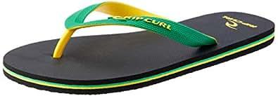 Rip Curl MC 2 Tone Men's Casual Shoe, Green/Yellow, 7 AU