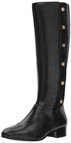 Nine West Women's Oreyan Knee High Boot, Black, 7.5 Medium US (Womens Leather Dress Boots)