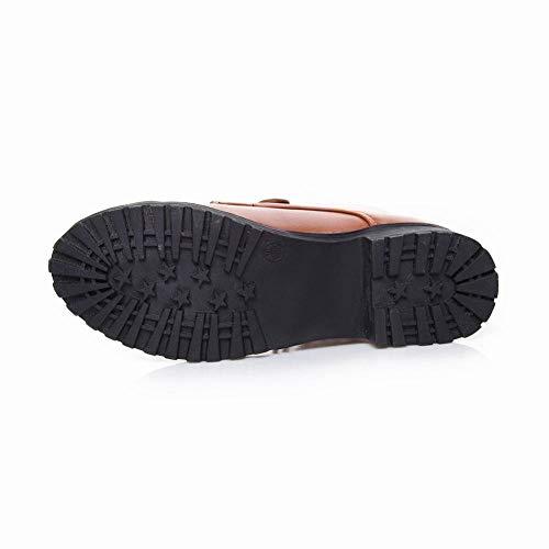 Et chaussures Dentelle D'hiver Dames Martin Dames Wsr À D'automne Bas En Bottes Talons Pour Jaune Montantes Femmes bottes x4wq0f6I