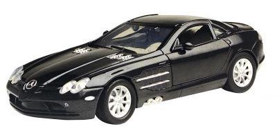 1 24 Motor Max MB SLR McLaren schwarzmetallic